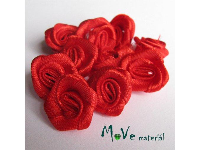 Růžička saténová červená 20mm, 10kusů