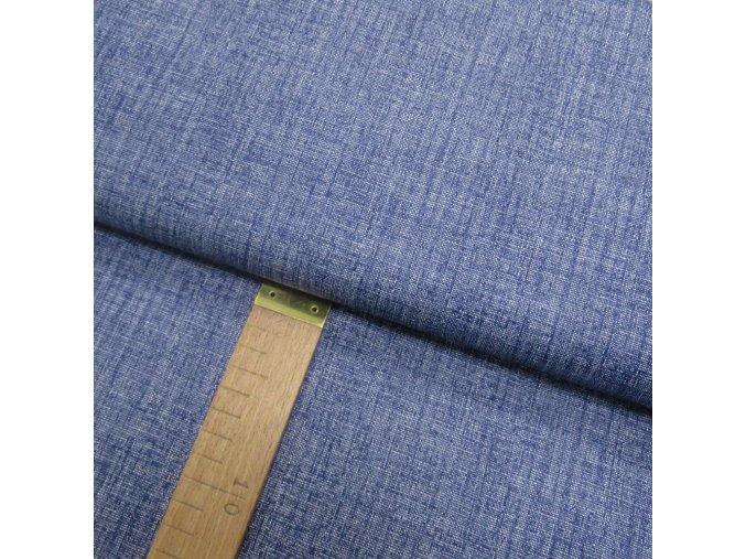 Bavlněné plátno - Lněná půda temně modrá - šíře 140cm/1bm