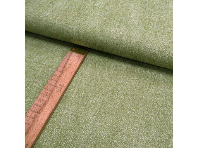 Bavlněné plátno - Lněná půda olivová - šíře 150cm/1bm