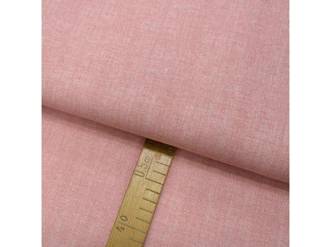 Bavlněné plátno - Lněná půda starorůžová - šíře 150cm/1bm