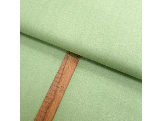 Bavlněné plátno -  Lněná půda světle zelenkavá - šíře 150cm/1bm