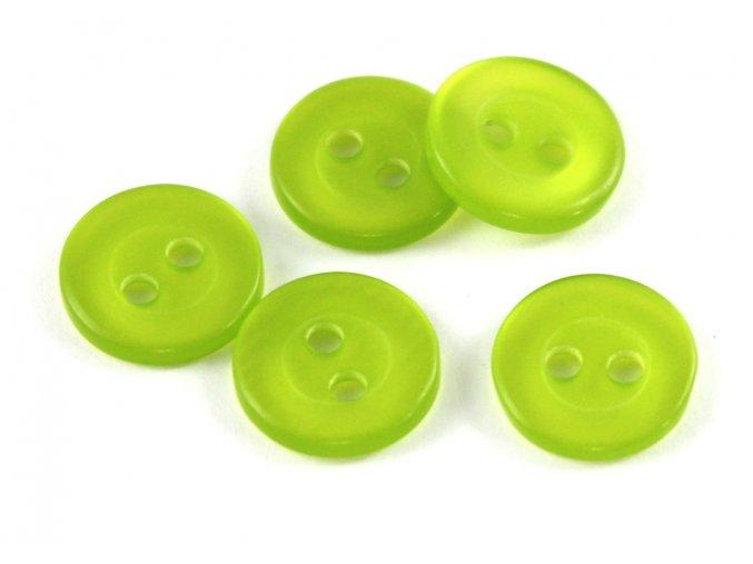 """Knoflík dvoudírkový - světle zelený - 18"""" - 11,43mm"""