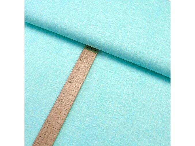 Bavlněné plátno - Lněná půda mentolová - šíře 150cm/1bm