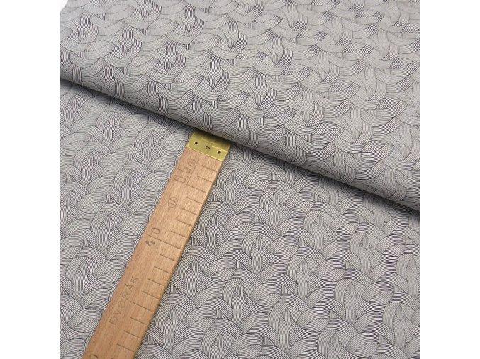 Bavlněné plátno - Geometrie černo-bílá - šíře 150cm/1bm