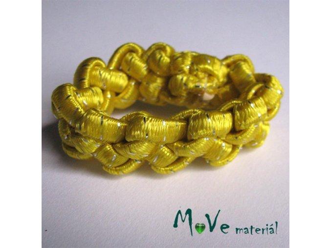 Gumička copánek na úpravu žlutá 1ks