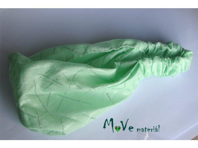 Dětská látková čelenka zelená