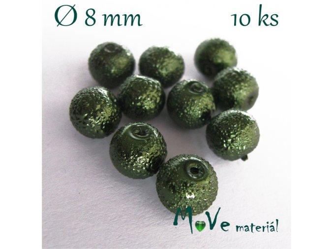 """Voskové perle """"Zigana"""" 8mm, 10ks, zelená"""