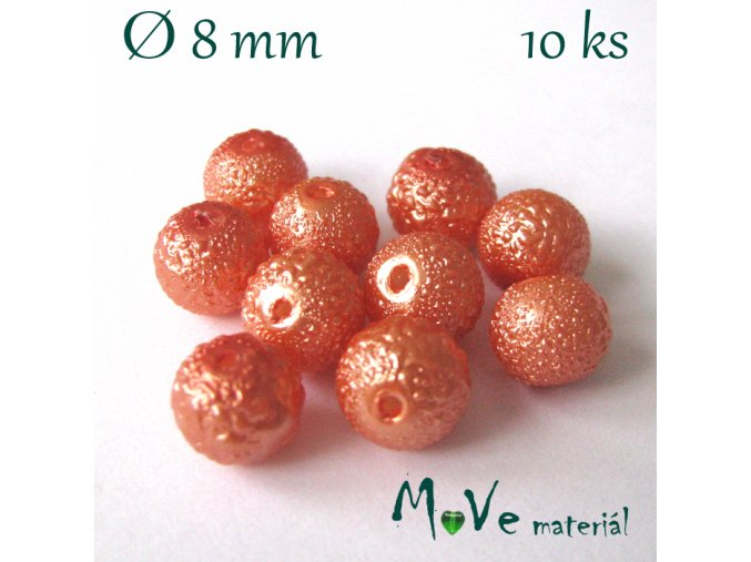 "Voskové perle ""Zigana"" 8mm, 10ks, oranžová"