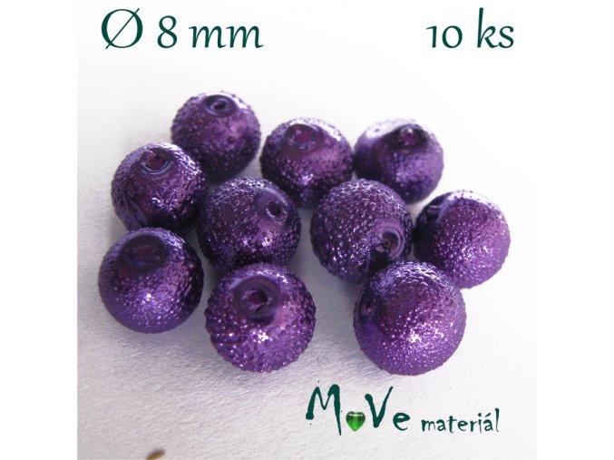 """Voskové perle """"Zigana"""" 8mm, 10ks, fialová"""