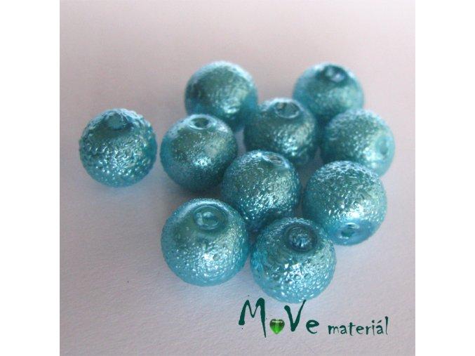 """Voskové perle """"Zigana"""" 8mm, 10ks, tyrkysová"""