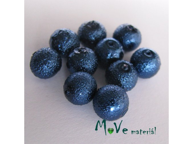 "Voskové perle ""Zigana"" 8mm, 10ks, modrá"