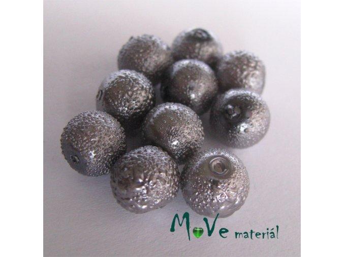 """Voskové perle """"Zigana"""" 8mm, 10ks, platina"""