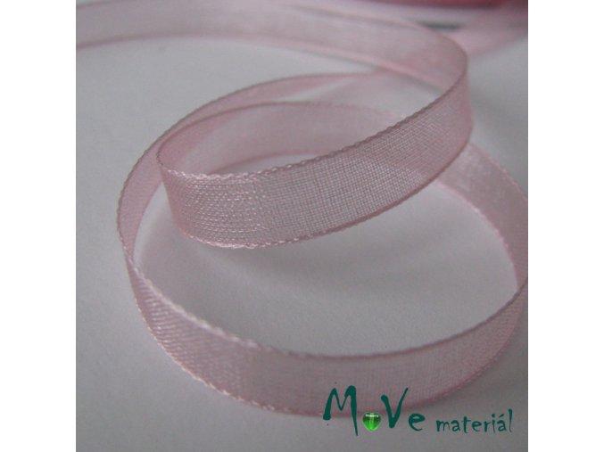 Šifónová stuha sv růžová 6mm, 1m