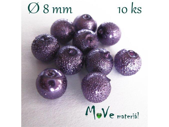 """Voskové perle """"Zigana"""" 8mm, 10ks, sv. fialová"""