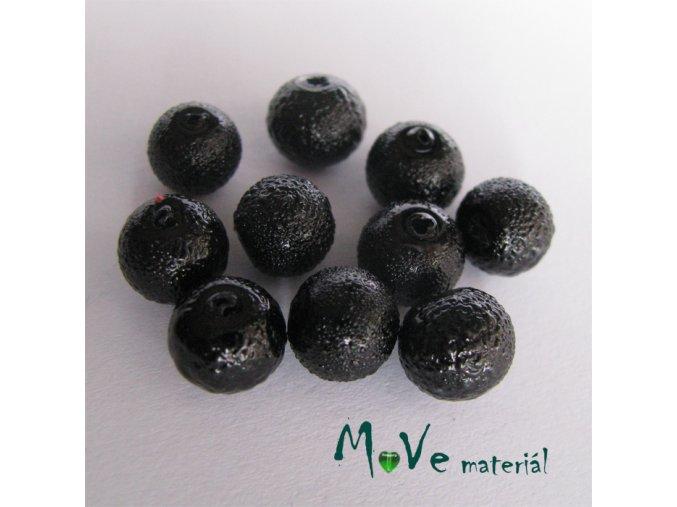 """Voskové perle """"Zigana"""" 8mm, 10ks, černá"""
