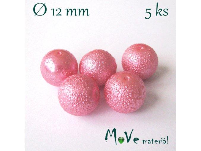 """Voskové perle """"Zigana"""" 12mm, 5ks, růžová"""