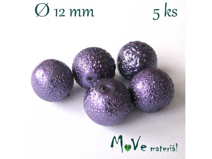 """Voskové perle """"Zigana"""" 12mm, 5ks, sv. fialová"""