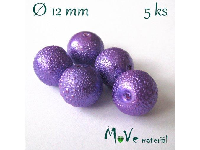 """Voskové perle """"Zigana"""" 12mm, 5ks, fialová"""