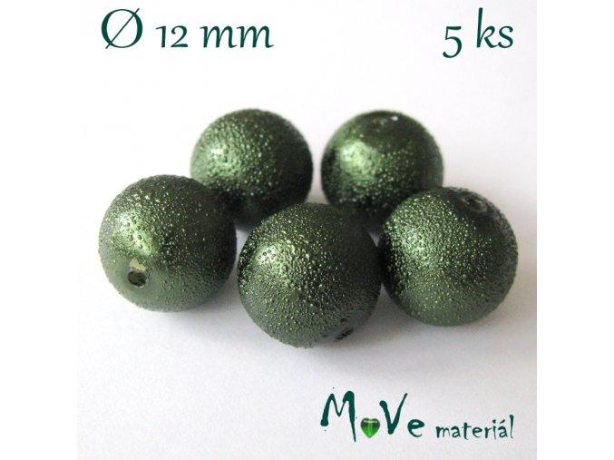 """Voskové perle """"Zigana"""" 12mm, 5ks, zelená"""