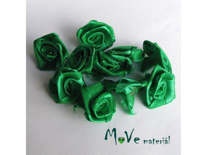 Růžička saténová zelená 20mm, 10kusů