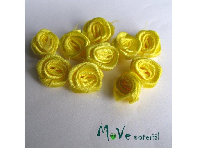 Růžička saténová žlutá 20mm, 10kusů