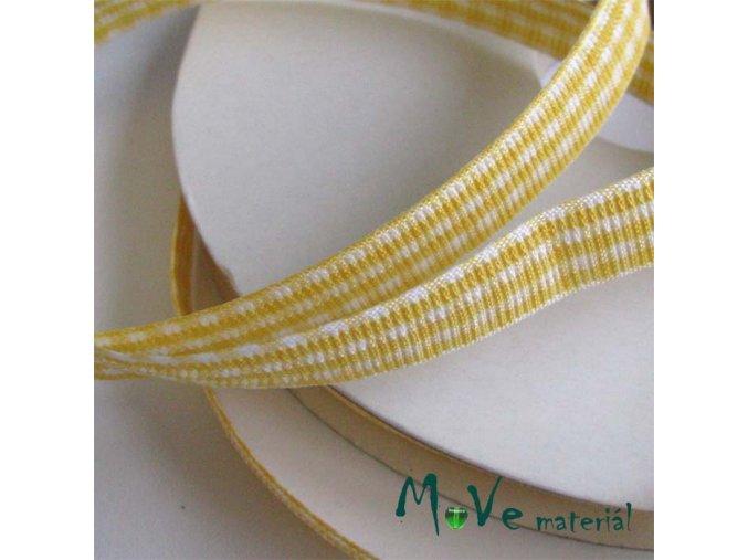 Stuha řezaná kostka 10mm 1m, žlutá