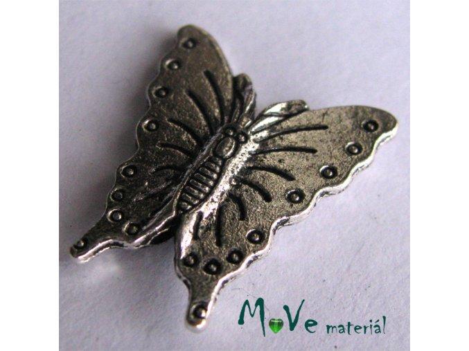 Korálek kovový 18x20mm motýl, 1ks