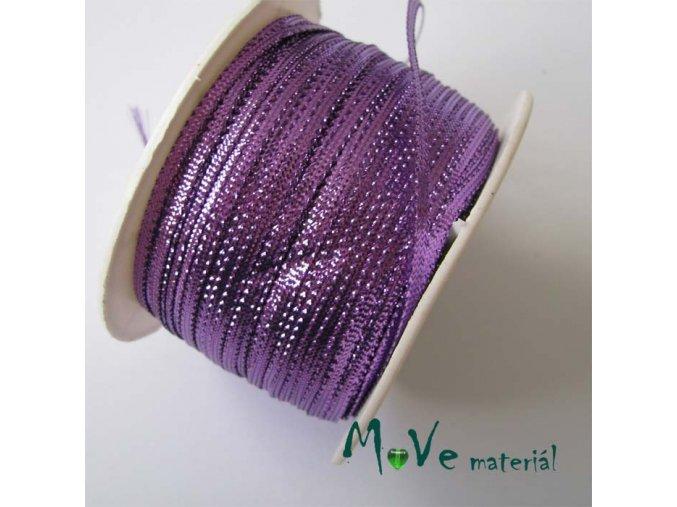 Stuha s lurexem fialová, 3mm, 1m