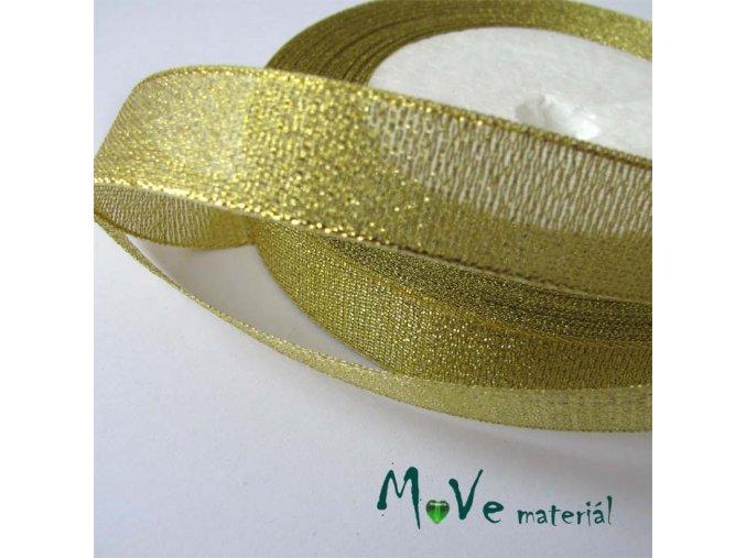 Stuha s lurexem zlatá, 17mm, 1m