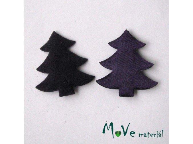 Vánoční stromek velikost 30x33mm, fialový, 2ks