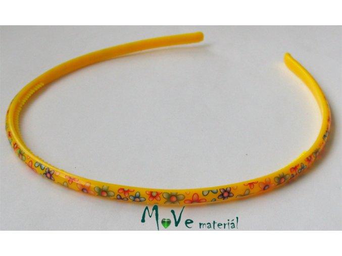 Čelenka dětská plastová žlutá