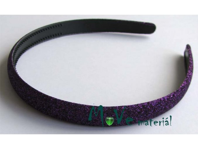 Čelenka jednoduchá potažená lurexem tm. fialová