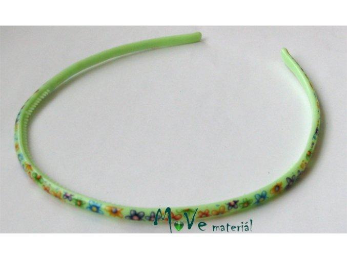 Čelenka dětská plastová zelená