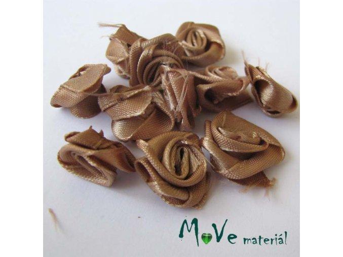 Růžička saténová béžová 12mm, 10kusy