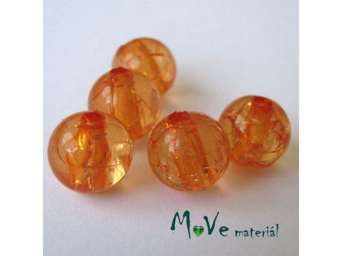 Korálek Krakl plast oranžový 10mm 6ks