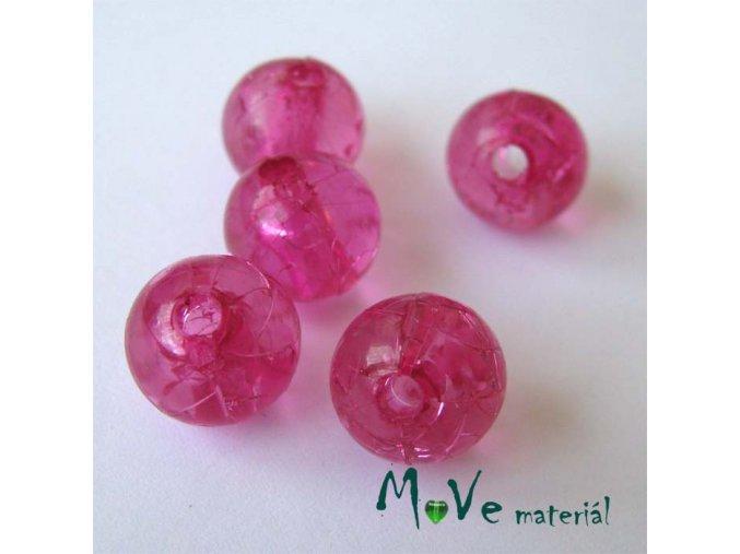 Korálek Krakl plast růžový 10mm 6ks