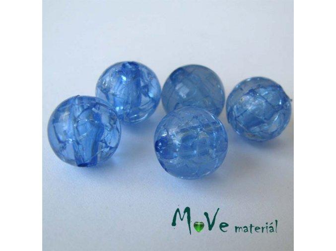 Korálek Krakl plast modrá 10mm 6ks