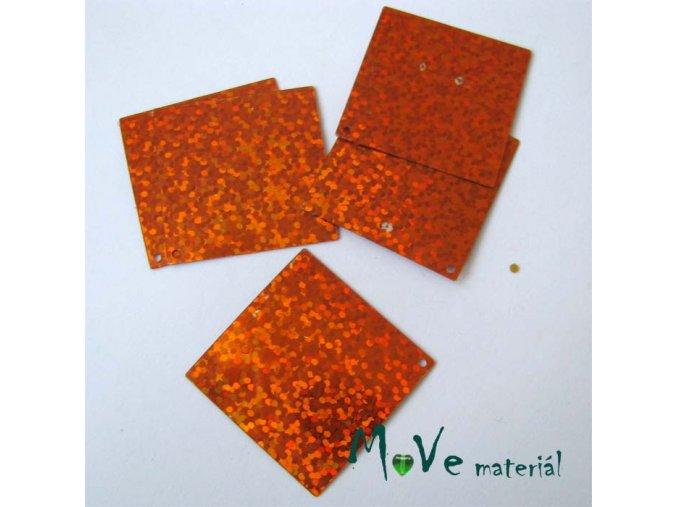 Flitry hladké 30x30mm, 6ks, oranžová