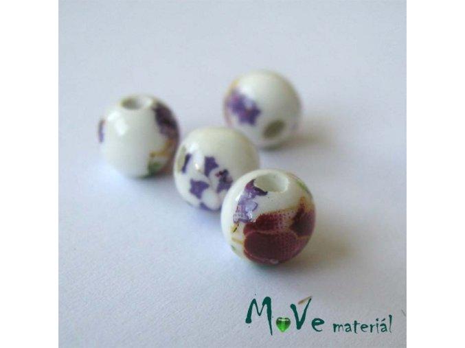 Korálek porcelánový kulička 6mm, 2ks