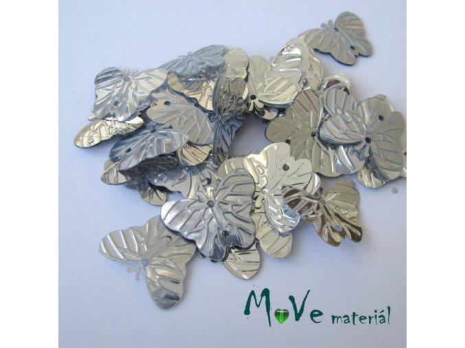 Flitry motýlek stříbrný 18x22mm, 5g