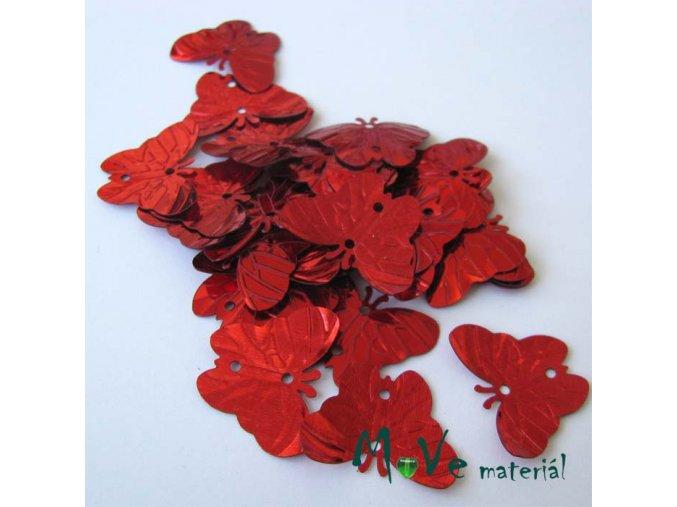 Flitry motýlek červený 18x22mm, 5g