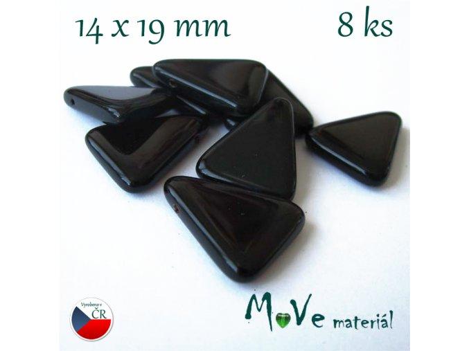 České skleněné trojúhelníky 14x19mm 8ks