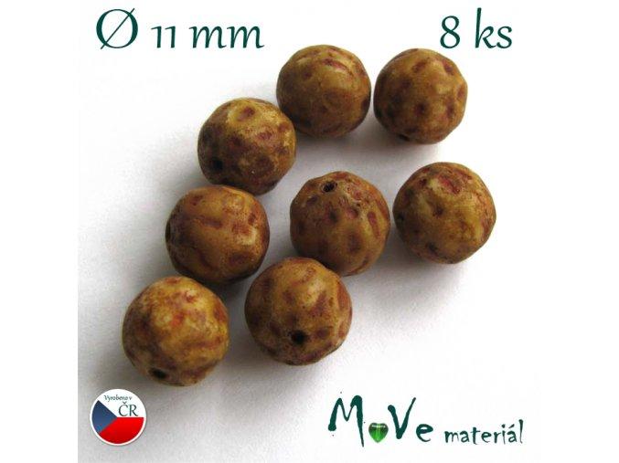 České mačkané kuličky 11mm 8ks