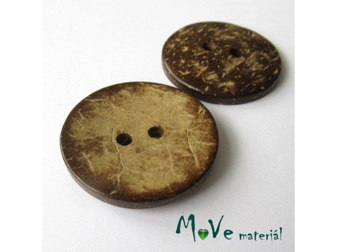 Knoflík kokosový maxi 50mm, 1ks