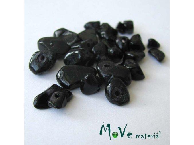 Kamenné zlomky vrtané černé, 7g