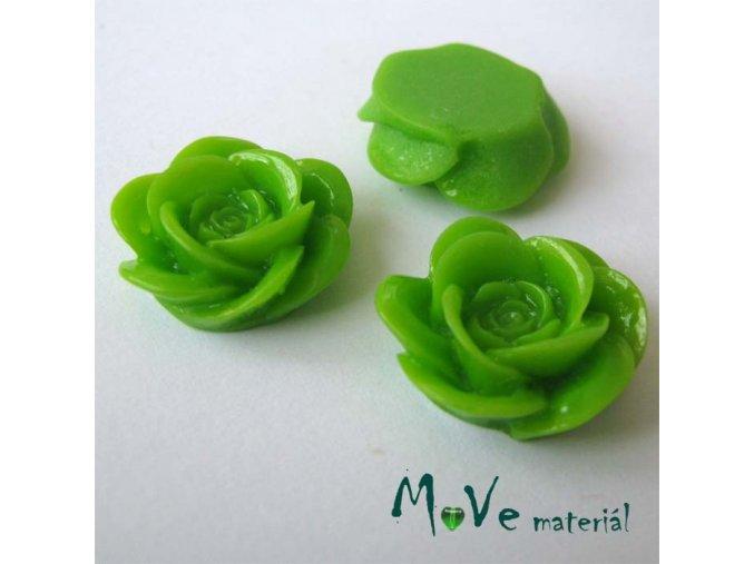 Kabošon květ lesklý A1 - resin - 2ks, zelená