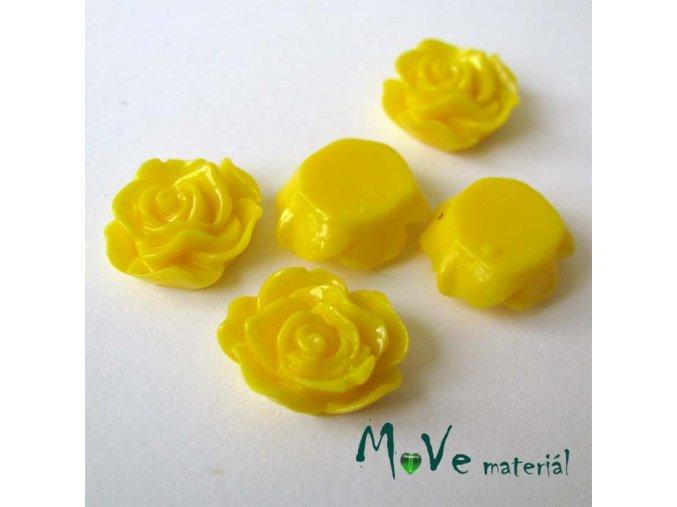Kabošon květ lesklý A3 - resin - 2ks, žlutá