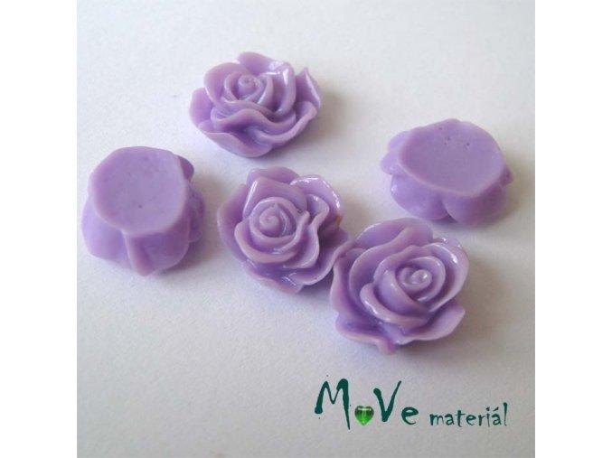 Kabošon květ lesklý A3 - resin - 2ks, tm. fialová