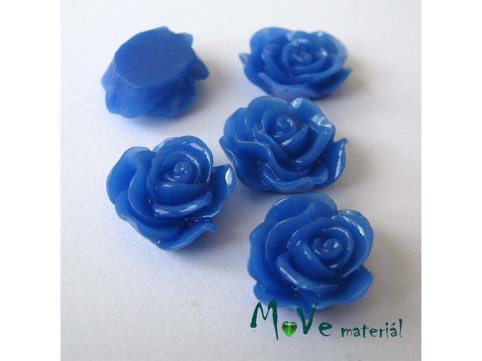 Kabošon květ lesklý A3 - resin - 2ks, tm. modrá