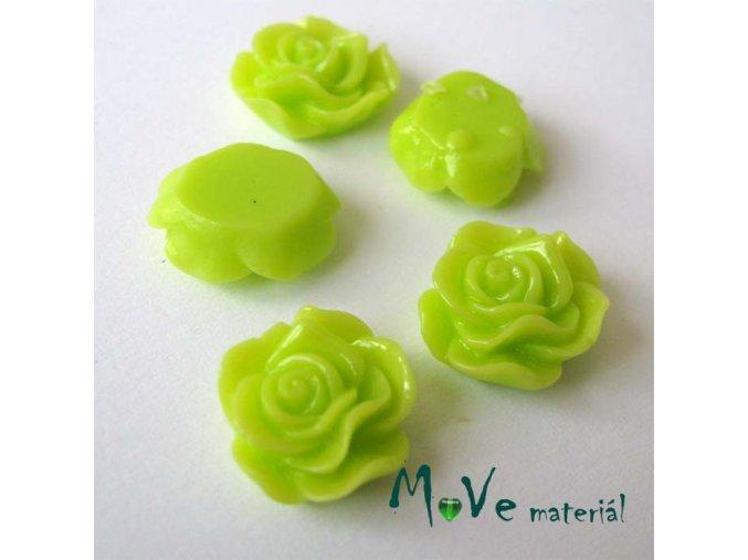 Kabošon květ lesklý A3 - resin - 2ks, sv. zelená